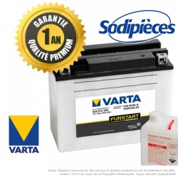 Batterie 12N18-3A VARTA + pack acide. Batterie tondeuse.