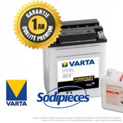 Batterie 12N14-3A VARTA + pack acide. Batterie tondeuse.