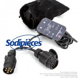 Testeur d'attelage LED 7 et 13 broches pour véhicule