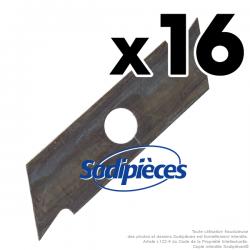 Couteaux scarificateurs pour Toro n° origine 10-261. Jeu de 16
