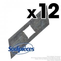 Couteaux scarificateurs pour Gutbrod n° origine 079 85 166. Jeu de 12