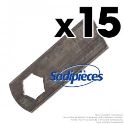 Couteaux scarificateurs pour Gutbrod n° origine 742-0825A. Jeu de 15