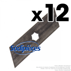 Couteaux scarificateurs pour Ering n° origine E67110. Jeu de 12