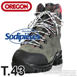 Bottes forestières cuir  de protection Oregon. Class 2 (24m/s). T.43