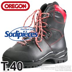 Bottes forestières cuir de protection Oregon. Class 1 (20m/s). T.40