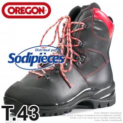 Bottes forestières cuir de protection Oregon. Class 1 (20m/s). T.43