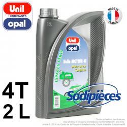 Huile moteur 4 temps Unil Opal pour motoculture. 2 litres