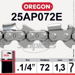 Chaîne 25AP072E OREGON Micro Chisel 1/4. 1,3 mm. 72 maillons