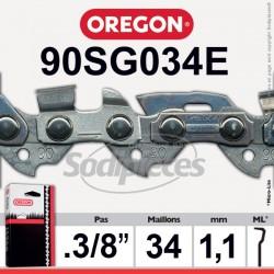 Chaîne 90SG034E OREGON Micro Chisel 1/4. 1,3 mm. 34 maillons