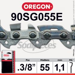 Chaîne 90SG055E OREGON Micro Chisel 1/4. 1,3 mm. 55 maillons