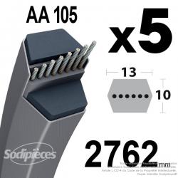 Courroies AA105 Hexagonale. Par 5