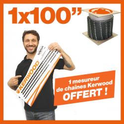 """1 Chaîne Kerwood 100"""". 1 mesureur Kerwood de chaînes tronçonneuses !"""