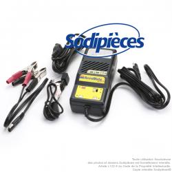 Chargeur de batterie TECMATE, 6 et 12V 1,2A. pour batterie de 2 - 75Ah.