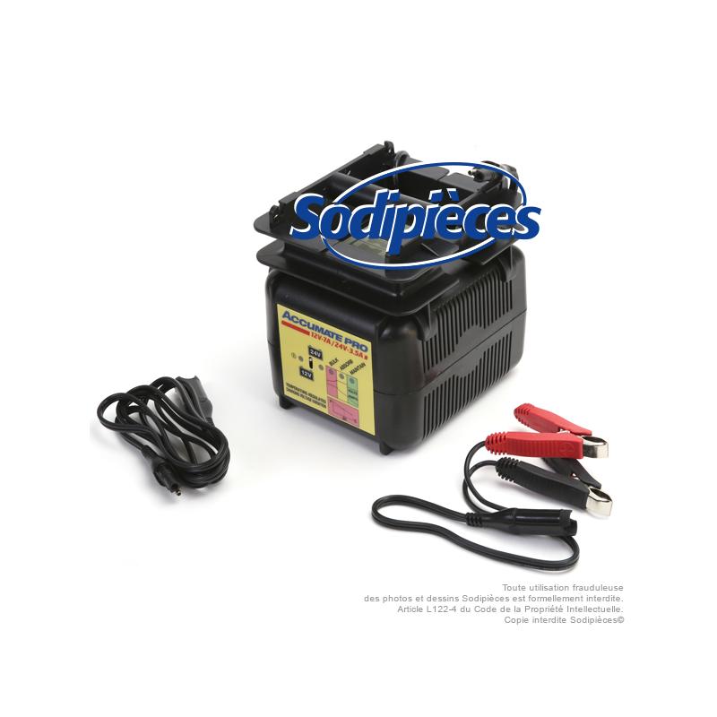 chargeur batteries 12 24v agm gel et conventionnelles courant de charge 7a 3 5a sodipieces. Black Bedroom Furniture Sets. Home Design Ideas