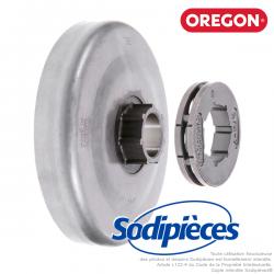 """Pignon + bague tronçonneuse Power mate 3/8"""". 7 dents. Oregon"""