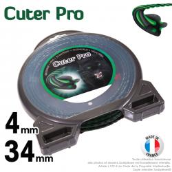 Fil débroussailleuse Cuter'Pro ®. Coque 4 mm x 34 m. Hélicoïdal