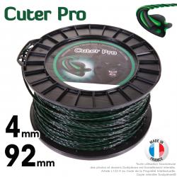 Fil débroussailleuse Cuter'Pro ®. Bobine 4 mm x 92 m. Hélicoïdal