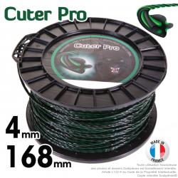 Fil débroussailleuse Cuter'Pro ®. Bobine 4 mm x 168 m. Hélicoïdal