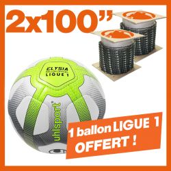 "2 Chaînes KERWOOD 100"". 1 ballon de foot officiel Ligue 1 !"