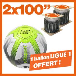 """2 Chaînes KERWOOD 100"""". 1 ballon de foot officiel Ligue 1 !"""