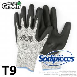 Gants anti-coupure Handergreen. Gris/noir. Taille 9