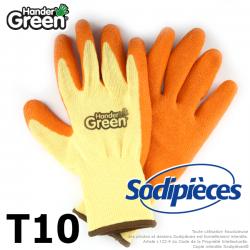 Gants haute qualité Handergreen. Jaune/orange. Taille 10