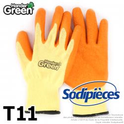Gants haute qualité Handergreen. Jaune/orange. Taille 11