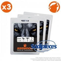 """Chaîne tronçonneuse KERWOOD 45 maillons 3/8""""LP, 1,3mm. Par 3"""