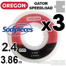 Fil débroussailleuse Oregon Gator® SpeedLoad™ 2,4 x 1,6 mm