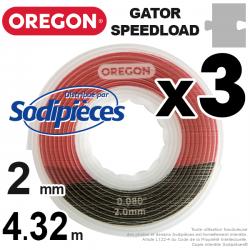Fil débroussailleuse Oregon Gator® SpeedLoad™ 2 x 1,6 mm