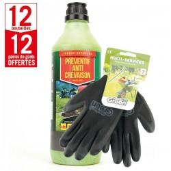 12 bouteilles préventif anti-crevaison Shark Oil-OKO + 12 paires de gants Multi-services HanderGreen OFFERTES