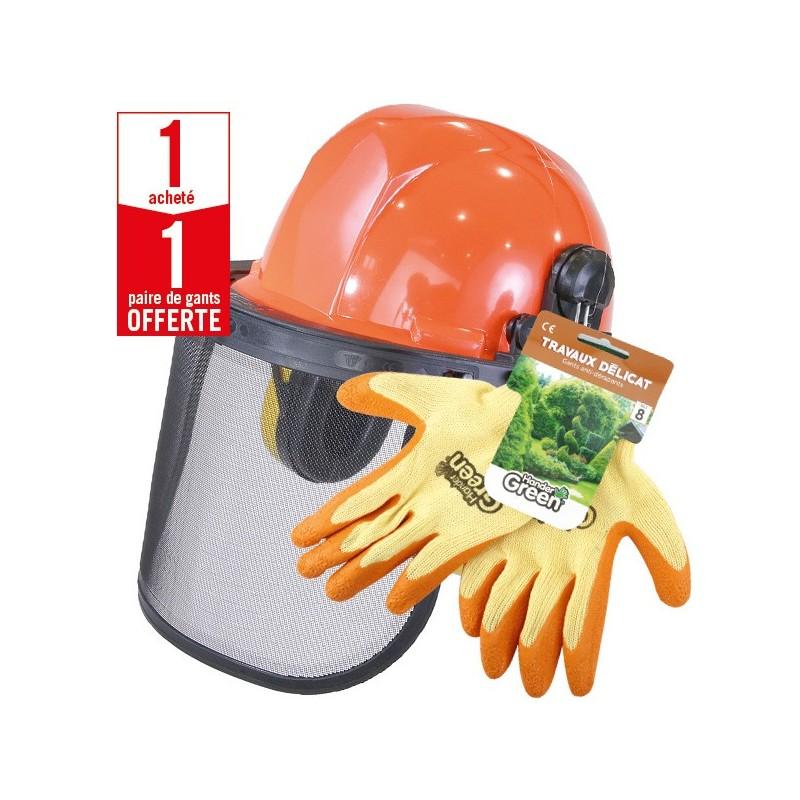 1 casque protection complet + 1 paire de gants Travaux Délicat HanderGreen OFFERTE