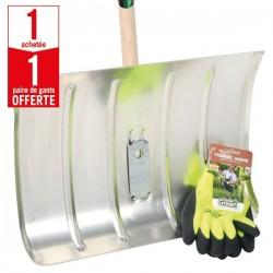 1 poussoir à neige aluminium + 1 paire de gants Confort Froid HanderGreen OFFERTE