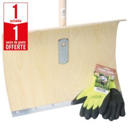1 poussoir à neige contreplaqué + 1 paire de gants Confort Froid HanderGreen OFFERTE