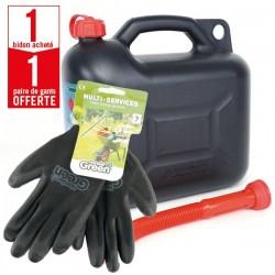 1 bidon 10L avec bec verseur + 1 paire de gants Multi-services HanderGreen OFFERTE