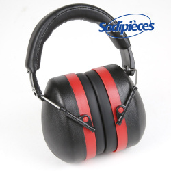 Casque de protection anti bruit. Noir/Rouge 30 dB
