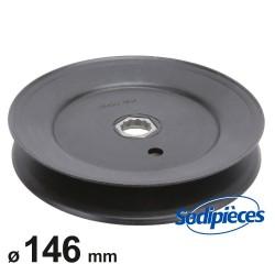 Poulie Ø 146 mm. Larg. 25,4 mm