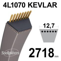 Courroie tondeuse 4L1070 Kevlar Trapézoïdale 12,7 mm x 2718 mm