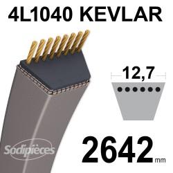 Courroie tondeuse 4L1040 Kevlar Trapézoïdale 12,7 mm x 2642 mm