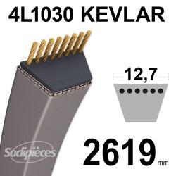 Courroie tondeuse 4L1030 Kevlar Trapézoïdale 12,7 mm x 2619 mm