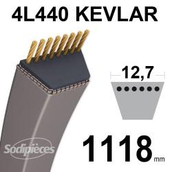 Courroie tondeuse 4L440 Kevlar Trapézoïdale 12,7 mm x 1118 mm