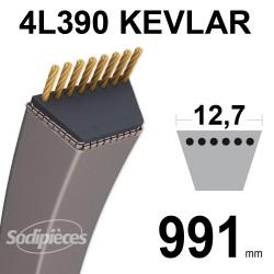 Courroie tondeuse 4L390 Kevlar Trapézoïdale 12,7 mm x 991 mm