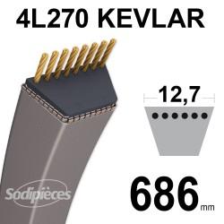 Courroie tondeuse 4L270 Kevlar Trapézoïdale 12,7 mm x 686 mm