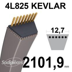 Courroie tondeuse 4L825 Kevlar Trapézoïdale. 12,7 mm x 2101,9 mm.