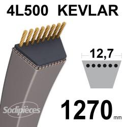 Courroie tondeuse 4L500 Kevlar Trapézoïdale. 12,7 mm x 1270 mm.