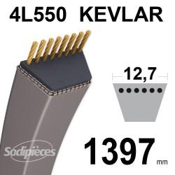 Courroie tondeuse 4L55 Kevlar Trapézoïdale. 12,7 mm x 1397 mm.