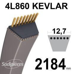 Courroie tondeuse 4L86 Kevlar Trapézoïdale. 12,7 mm x 2184 mm.