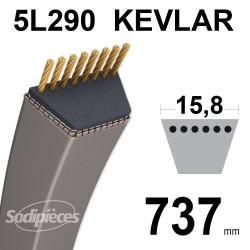 Courroie tondeuse 5L29 Kevlar Trapézoïdale. 15,8 mm x 737 mm.