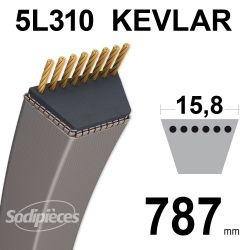Courroie tondeuse 5L31 Kevlar Trapézoïdale. 15,8 mm x 787 mm.