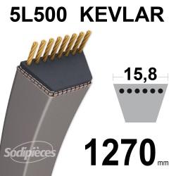 Courroie tondeuse 5L50 Kevlar Trapézoïdale. 15,8 mm x 1270 mm.